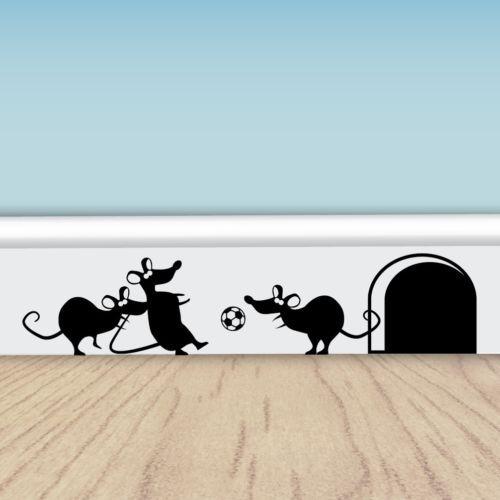Funny Football Mice   Vinyl Wall Stickers For Walls, Doors U0026 Skirting