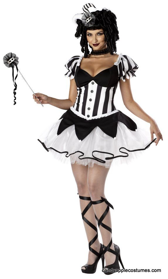 Adult King's Delight Sexy Harlequin Costume - Candy Apple Costumes - Circus Ring Master and Clown Costumes
