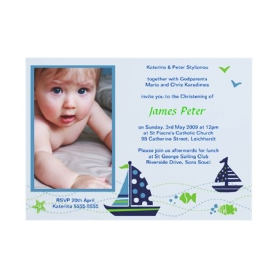 Nautical Christening Invitations by Inviting Kids