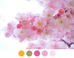 BLOESEM - Kersenbloesem - Voorjaar - Roze tinten en zonnig geel voor een meisjes slaapkamer