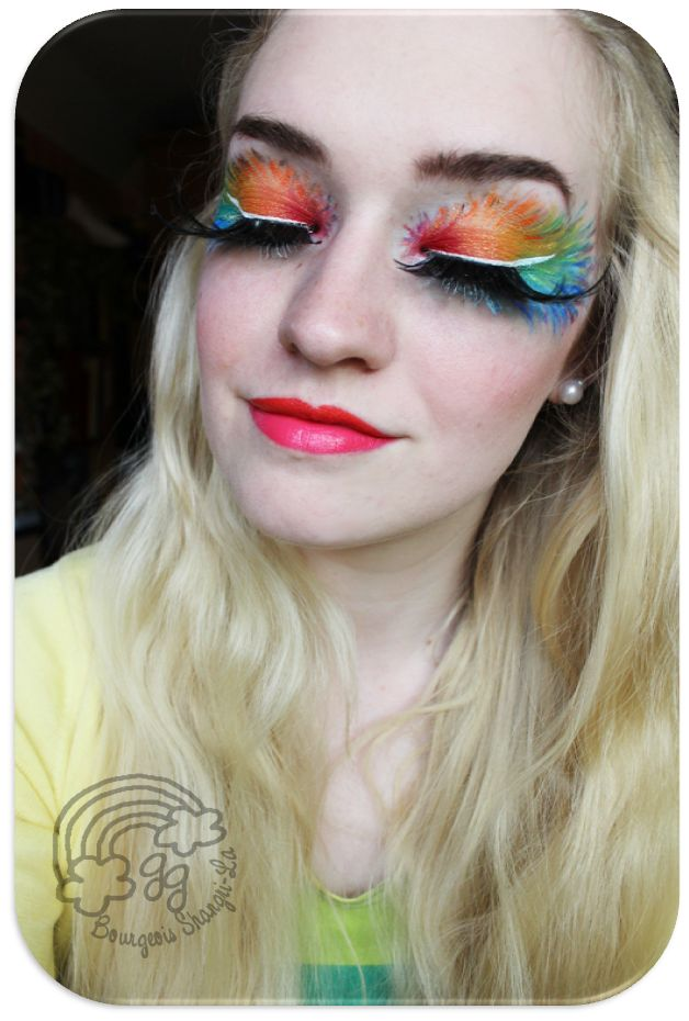Colourful, beautiful Make-Up of Goldie