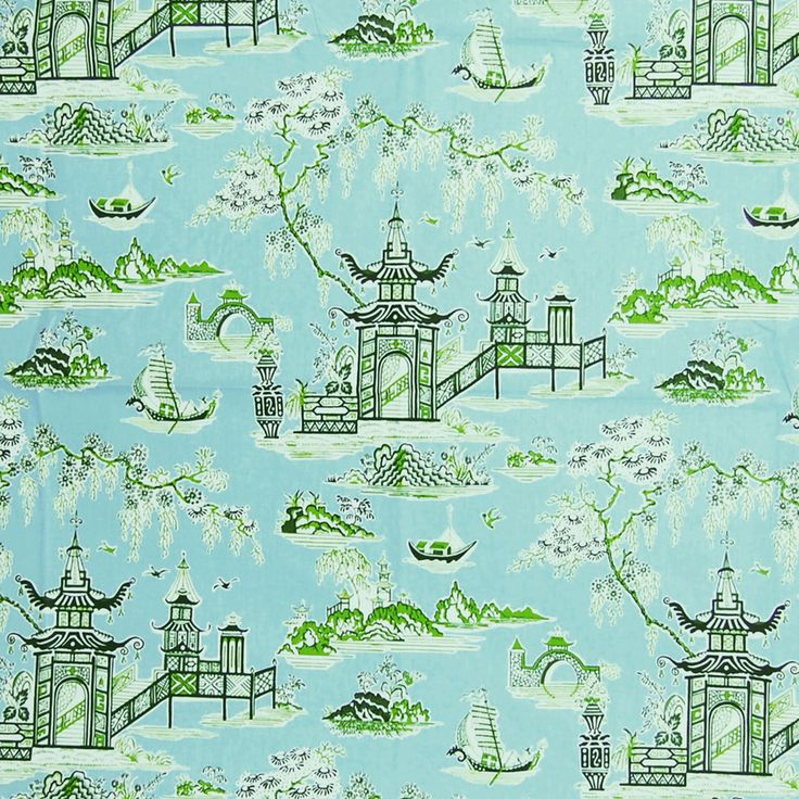 The G1343 Blossom upholstery fabric by KOVI Fabrics features Asian, Chintz, Novelty, Toile pattern and Blue, Teal as its colors. It is a Cotton, Made in USA, Print type of upholstery fabric and it is made of 100% Cotton material. It is rated Exceeds 9,000 double rubs (heavy duty) which makes this upholstery fabric ideal for residential, commercial and hospitality upholstery projects.For help please call 800-860-3105.