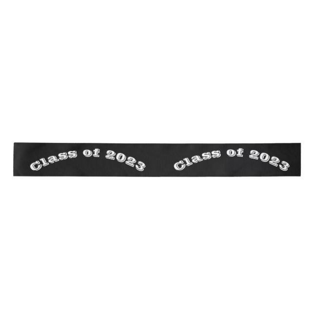 Class Of 2023 Graduation Day By Janz Black Satin Ribbon Zazzle Com With Images Graduation Day Black Satin Satin Ribbon