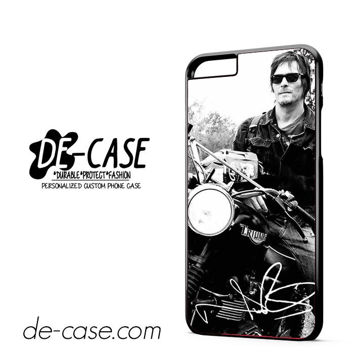 Norman Reedus And His Bike DEAL-8018 Apple Phonecase Cover For Iphone 6/ 6S Plus