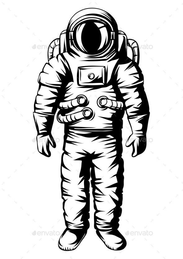 Illustration of Astronaut Spaceman in Suit Astronaut