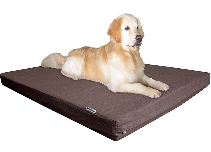 Dogbed4less 100% Memory Foam Dog Bed With Durable Washable Denim Cover And  Waterproof Liner Bonus