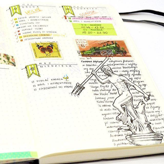Notka na temat Fontanny Neptuna Znaczek z motylem też nie jest przypadkowy. Tego dnia skończyłem malować piąty obraz, który pojechał na Noc Muzeów do Gdańska, a przedstawia m.in. motyla (swoją drogą zapraszam: 21 maja od godz. 19.00, ul. Wałowa 15, PAN Biblioteka Gdańska. Sporo atrakcji, m.in. 5 moich botanicznych obrazów).  #esperoart #bulletjournal #bulletjournaljunkies #bulletjournalpolska #bujo #bujojunkies #leuchtturm #leuchtturm1917 #bujoesperoart #showmeyourplanner