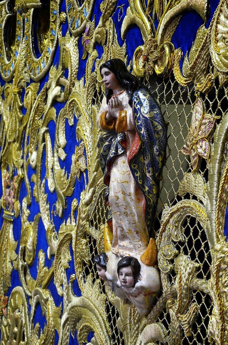 Gente de Paz: Alberto Vico presenta la bambalina del palio de la Virgen de la Estrella de Alcalá la Real