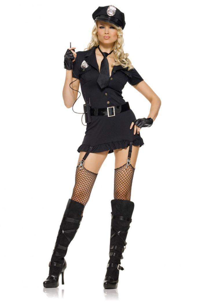 Kihívó női rendőr jelmez, rendkívül sok kiegészítővel!