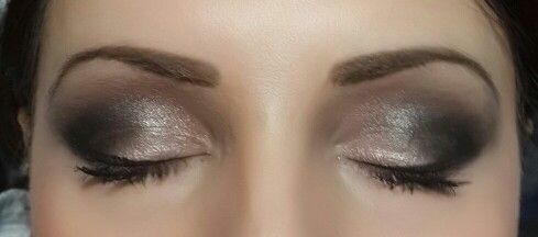 Variation on the smokey eye with blush inside corners