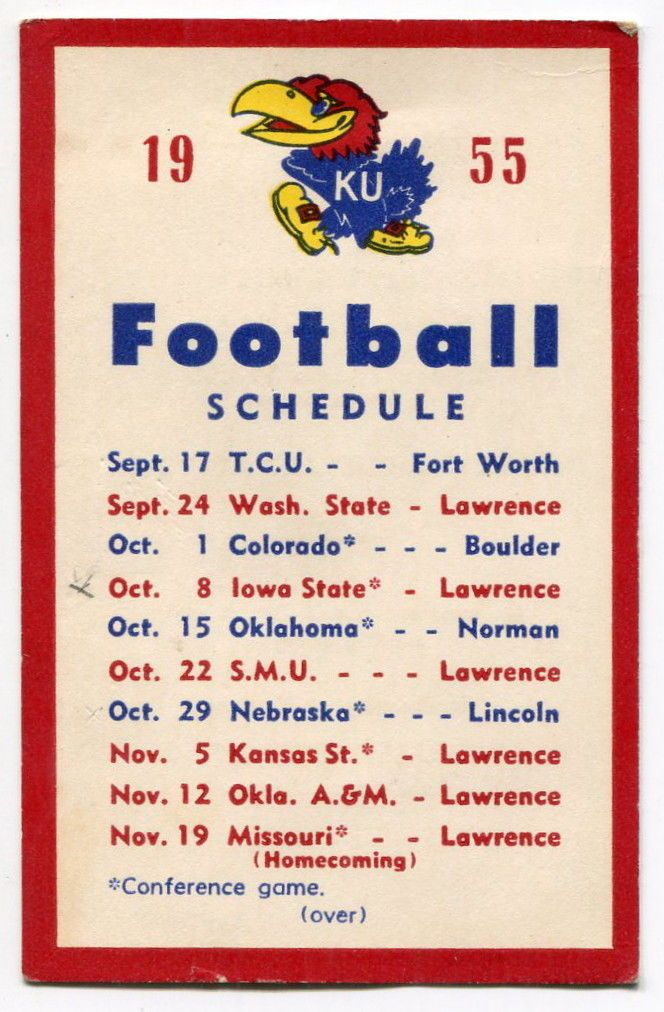 1955 Kansas Jayhawks football schedule