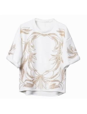 CARMAN Studded Details Sweatshirt @shopjessicabuurman