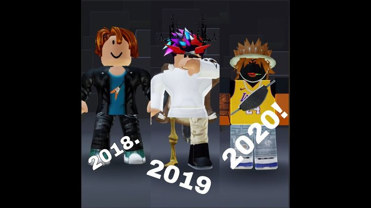 My Roblox Avatar Evolution 2018 2020 Roblox My Roblox Avatar