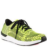Athleisure is all the rage and TheWarmUp collection by Jessica Simpson will deliver.  Black and neon woven knit covers the upper to the athletic Fitt.  Adjustable laces for the perfect fit and simple rubber sole completes the look.