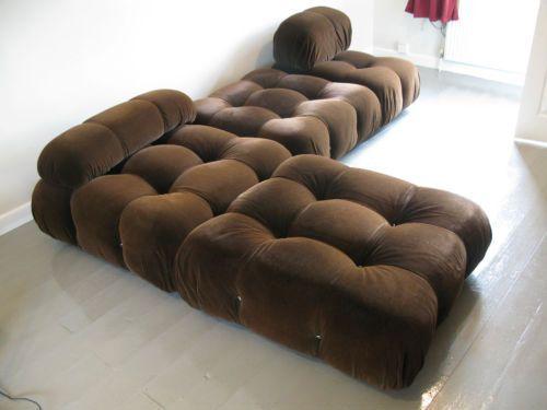 Superior 1970s Mario Bellini Designed CB Italia Camaleonda Modular Sofa System
