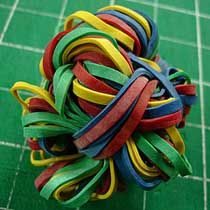 Stress Relieving Rubber Band Ball