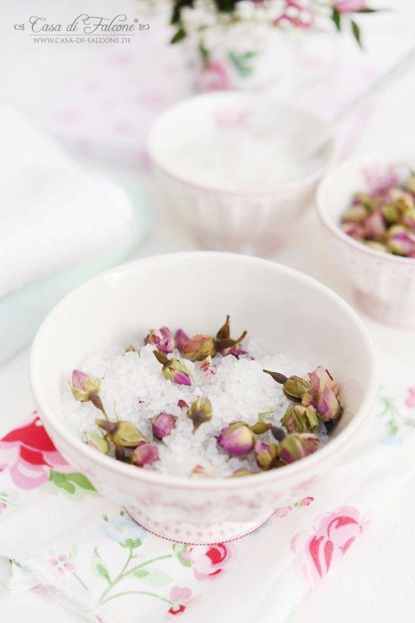 Badesalz mit Rosenblüten I Muttertag I Gastgeschenk I Casa di Falcone