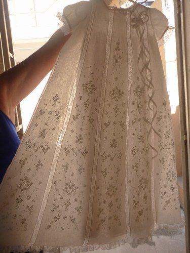 Beautiful embroidered christening dress - Robe de Bapteme (auFeminin.com) - (needlework, baby)