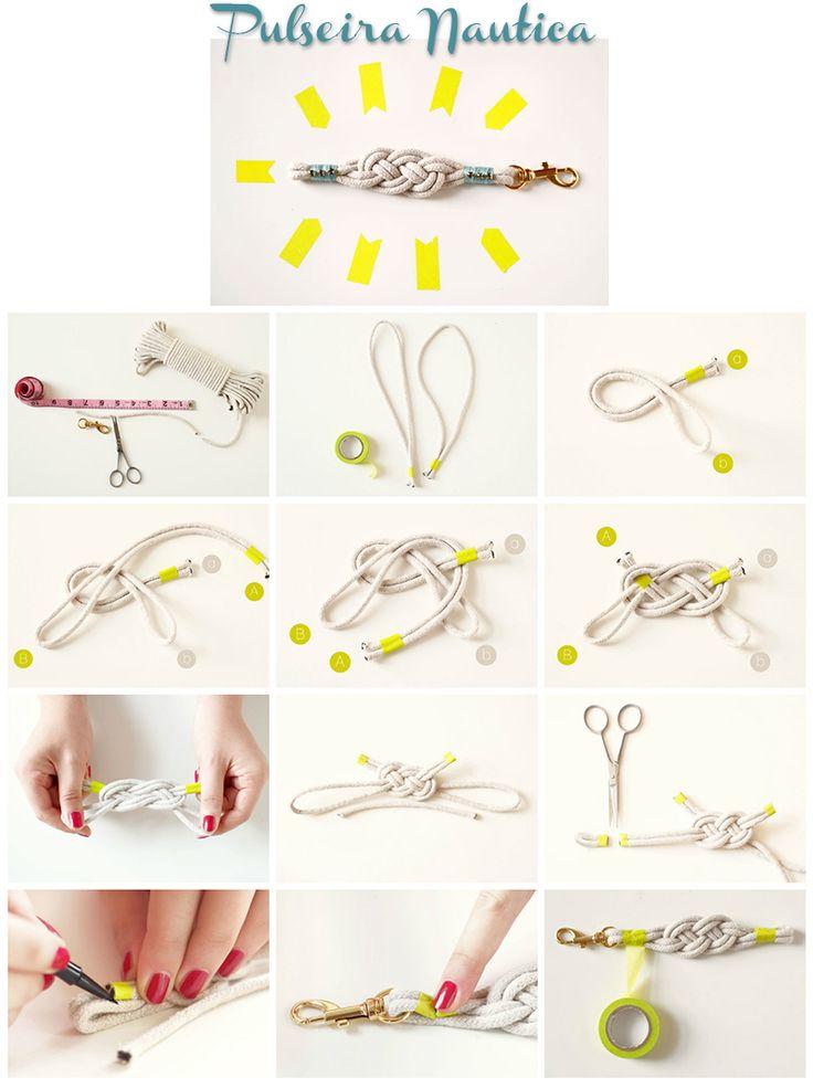 Como fazer pulseira Nó de Marinheiro - Blog Como faz Artesanato