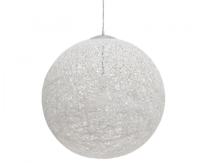 By day, the Globe pendant looks like a modern sculpture suspended from your ceiling.  At night, switch on the 60 W light bulb and it's as though a full moon has appeared.  Use this stylish accessory to light up your home or workplace — it looks equally luminous in both environments.