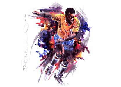 Pele by Paul Trevillion