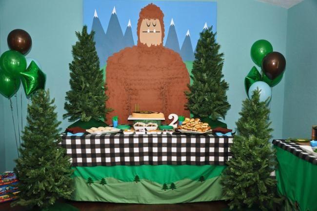 bigfoot themed boy birthday party