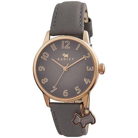 Buy Radley RY2248 Women's Leather Strap Charm Watch, Grey Online at johnlewis.com