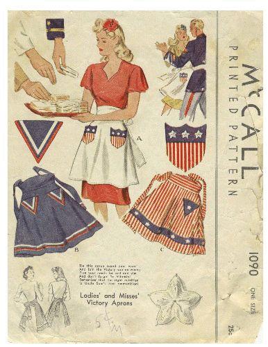 Victory Apron Pattern // McCall 1090, 1943