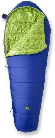 For slumber parties and camping, the REI Kindercone kids' sleeping bag. #REIgifts