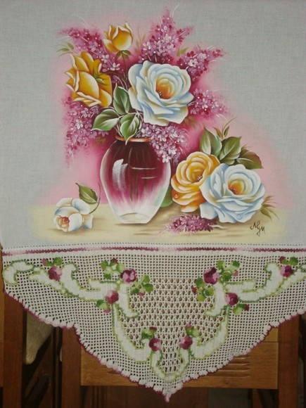 Pano de copa | Artes em Crochê e Pintura | 1906D3 - Elo7