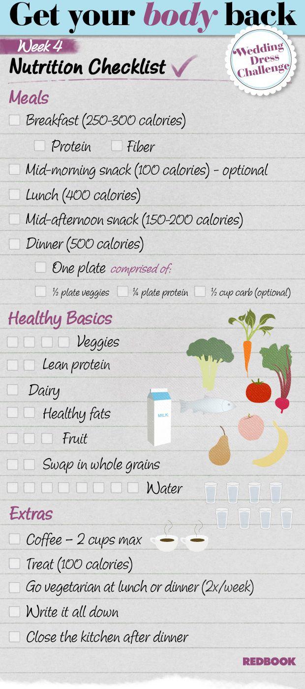 Wedding Dress Challenge Eating Checklist Week 4 - Redbook