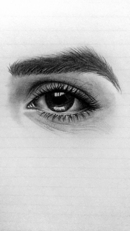 drawing drawings charcoal easy pencil eye eyes kawaii