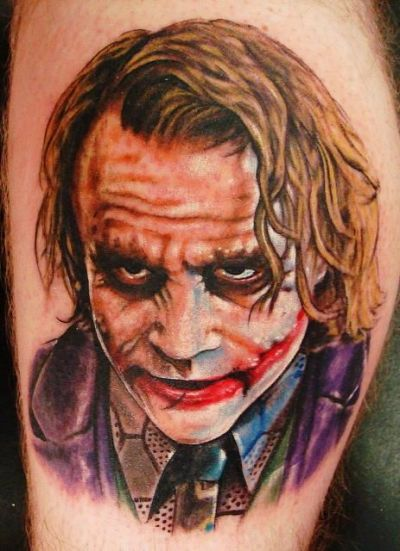 Joker Tattoo, why so serious. my brother should of just got the face