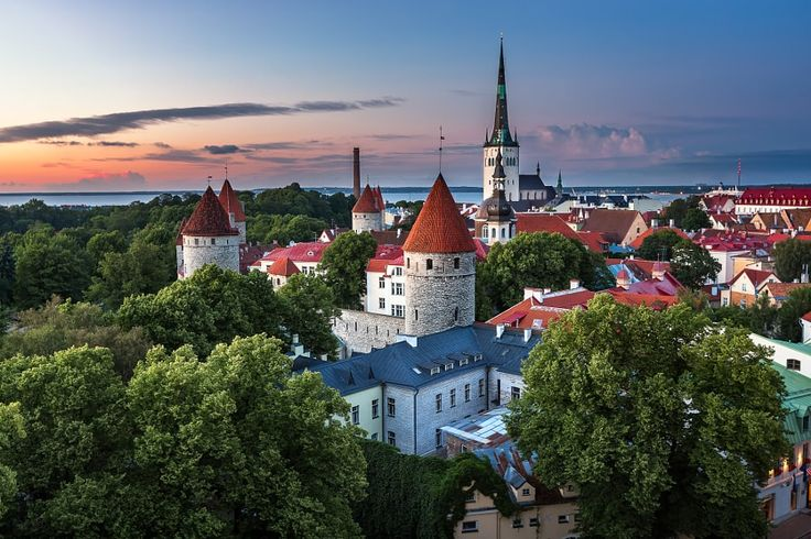 Aerial View of Tallinn Old Town from Toompea Hill in the Evening by Andrey Omelyanchuk on 500px.com