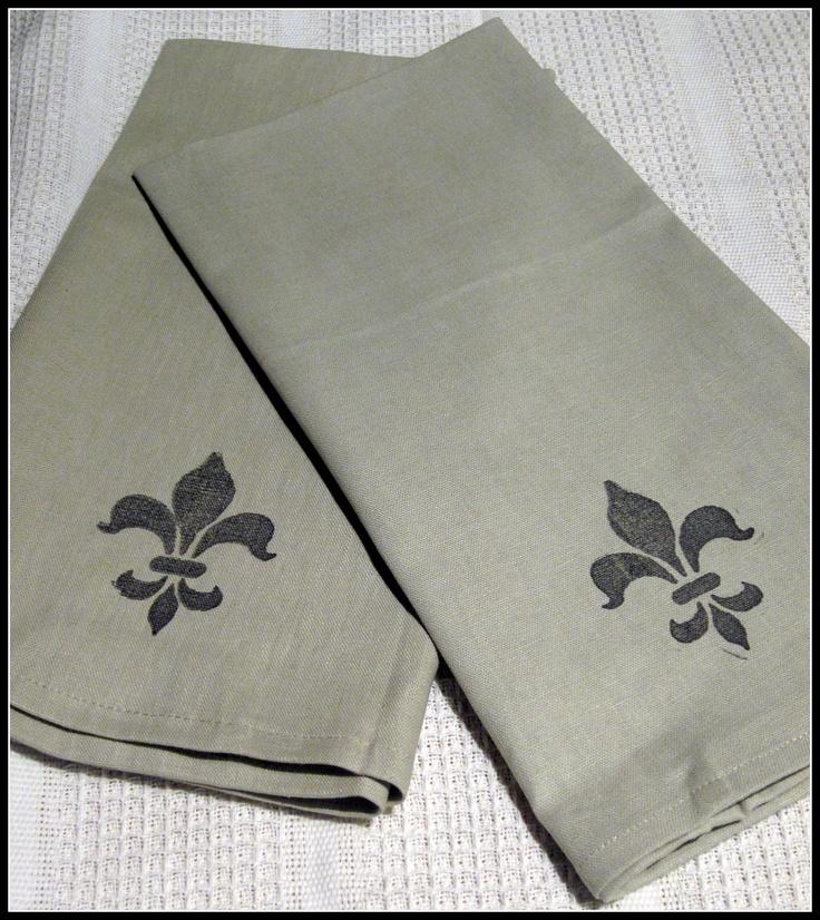 #french Napkins #fleur De Lis Www.homeroad.net. Kitchen TowelsKitchen  DecorKitchen ...