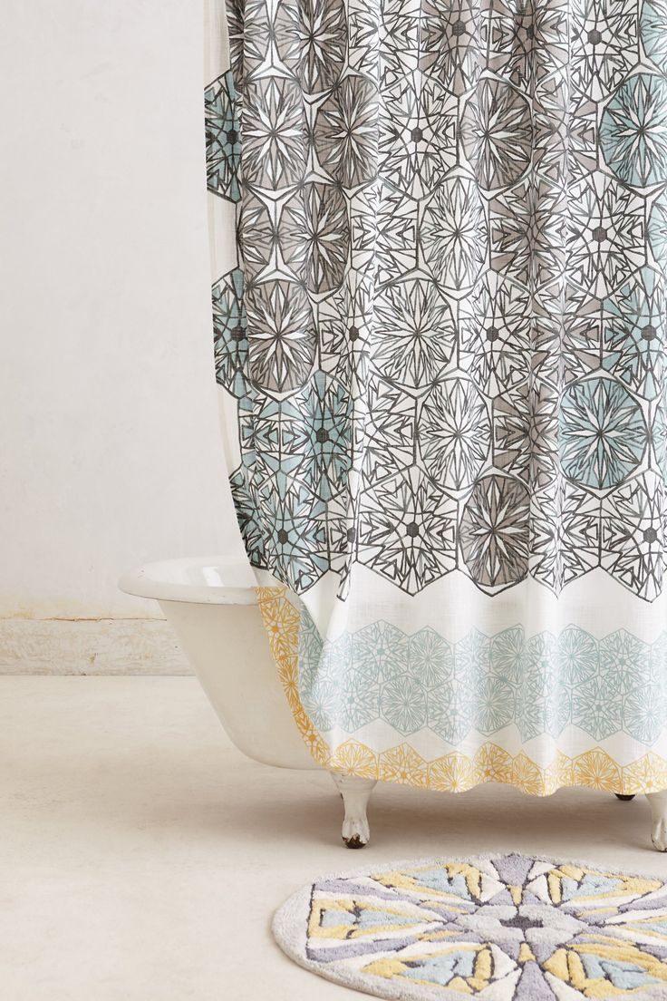 Anthropologie tender falls shower curtain - Kaleidoscope Patch Shower Curtain Anthropologie Com