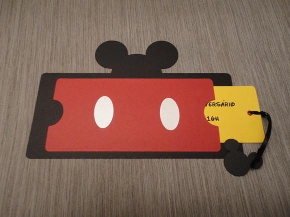 Convite Mickey e Minnie