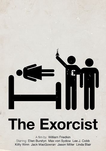 The Exorcist - pictogram movie poster