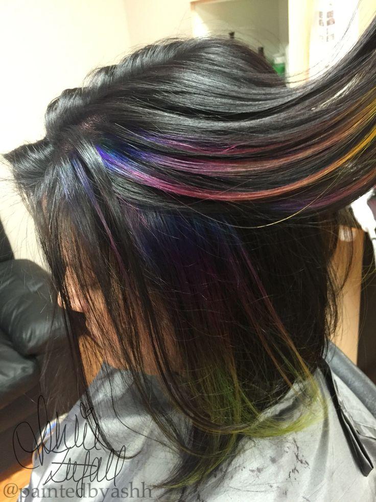 ... | My Hair Portfolio | Pinterest | Oil Slick Hair, Oil and Hair