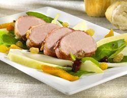 recettes: gibiers à plumes: Salade tiède de faisan à la pomme