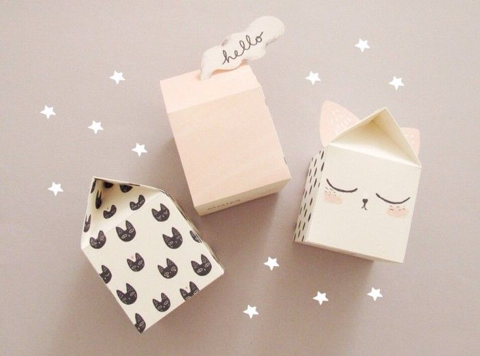 Tre små presentlådor
