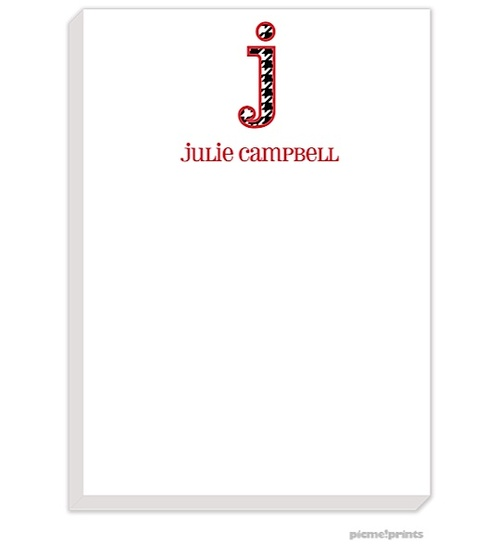 Roll Tide!!! picme!prints | | Big Letter Houndstooth Large Notepad (PicMe) | The PrintsWell Store