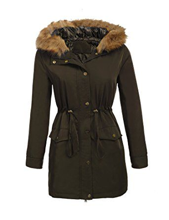ELESOL Women's Military Hooded Warm Winter Faux Fur Parkas Anoraks Outdoor Long Coats Review