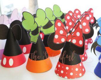 Sombreros de fiesta de Baby Mickey y Minnie por PerfectlyBoutique ... af4ba8ae99c