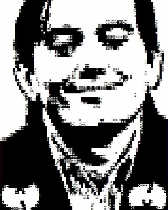 From the April Fool's vaults a K-thulu faux-textmode portrait of reviled Wu-tang fan Martin Shkreli released in MIST0416 as part of a suite including portraits of Donald Trump and late Toronto mayor Rob Ford.