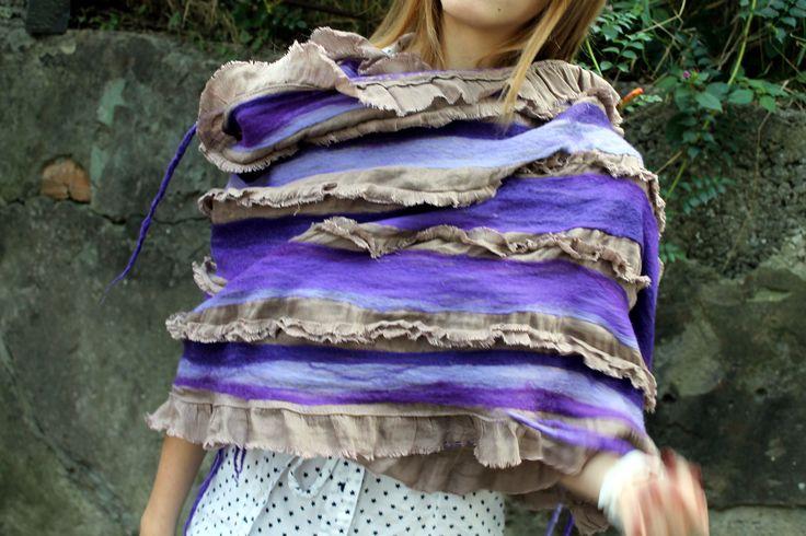 felted scarf, nuno felting