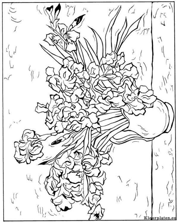 Vincent Van Gogh Kleurplaat 5947 598x748