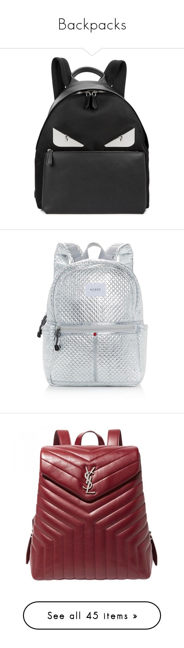 Backpacks by sitinurliyana on Polyvore featuring polyvore, women's fashion, bags, backpacks, leather bags, leather daypack, fendi bags, real leather backpack, leather rucksack, backpack, rucksack bags, knapsack bag, metallic bag, day pack backpack, backpack bags, genuine leather backpack, genuine leather bags, day pack rucksack, gamiss, daypack bag, juicy couture backpack, zip backpack, juicy couture bags, brown, gucci bags, brown leather bag, pocket backpack, laptop pocket backpack…