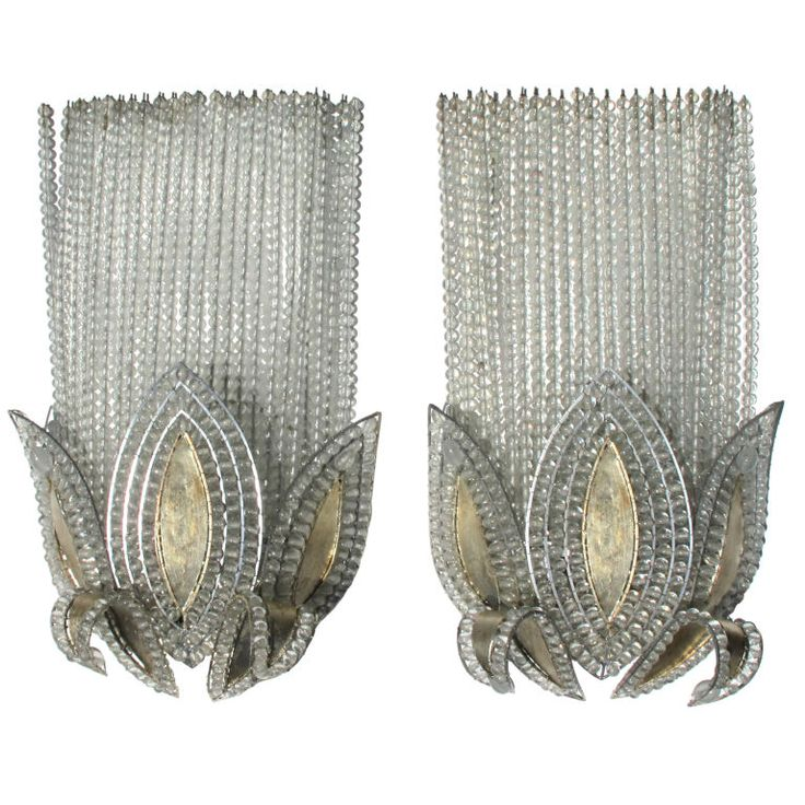 A Rare Pair Of French Art Deco Wall Lights, Attributed To Bagues Part 81