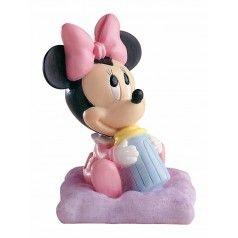 Figura para tarta de bautizo Minnie Baby.